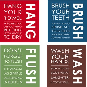 "Image of Bathroom Prints - set of 4 8""x10"" prints"