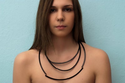 Image of Black Vinyl / Necklace