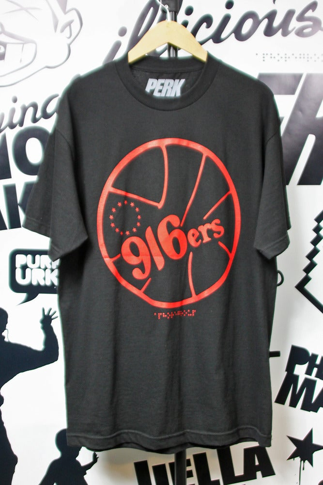Image of 916ers Black & Red Tee
