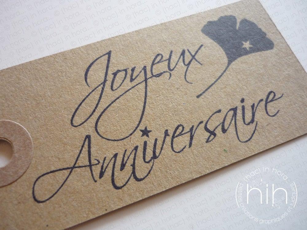 """Image of étiquettes tag #kraft# """"joyeux anniversaire"""""""