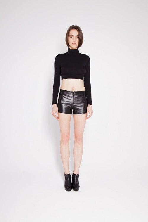 Image of Eco-leather shorts