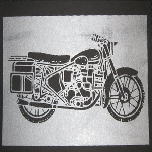 Image of Small Art Print/ Moto Silver