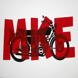 Image of Small Art Print/ Moto MKE