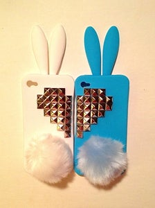 Image of BFF BUNNY - WHITE AND BLUE