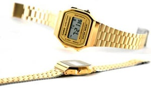 Image of Casio A168W Digital Gold Watch