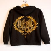 Image of Will Prevail Black & Gold Hoody