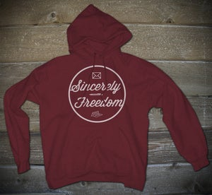 Image of Sincerely Freedom Hoodie Maroon