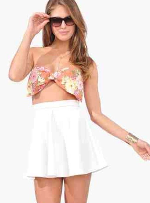 LAVASHTI — Hawaiin bandeau bow top