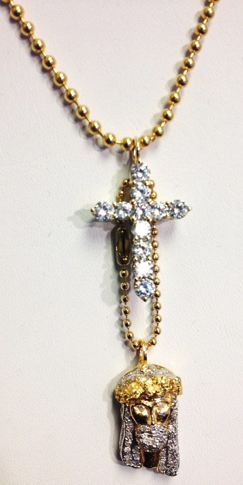 Image of Micro Cross And Jesus