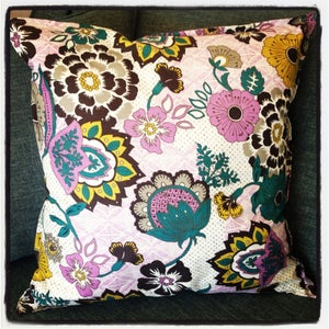 Image of Modern Vintage Floral Pillow