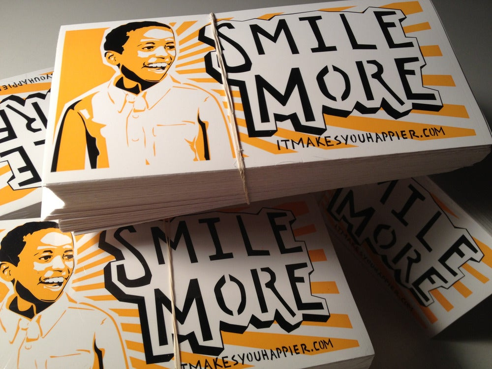 Image of Smile More Stickers (5 Pack)