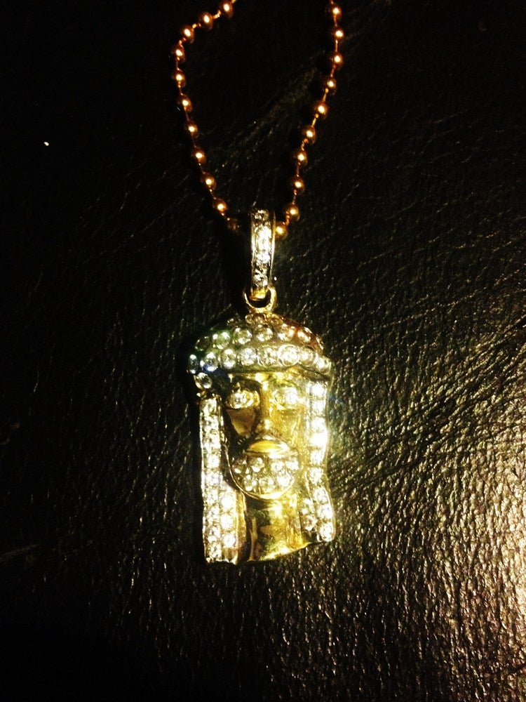 "Image of Micro ""KUFI"" Jesus Pendant (Full Set)"