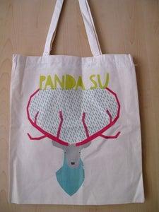 Image of 'Stag' Panda Su Tote Bag