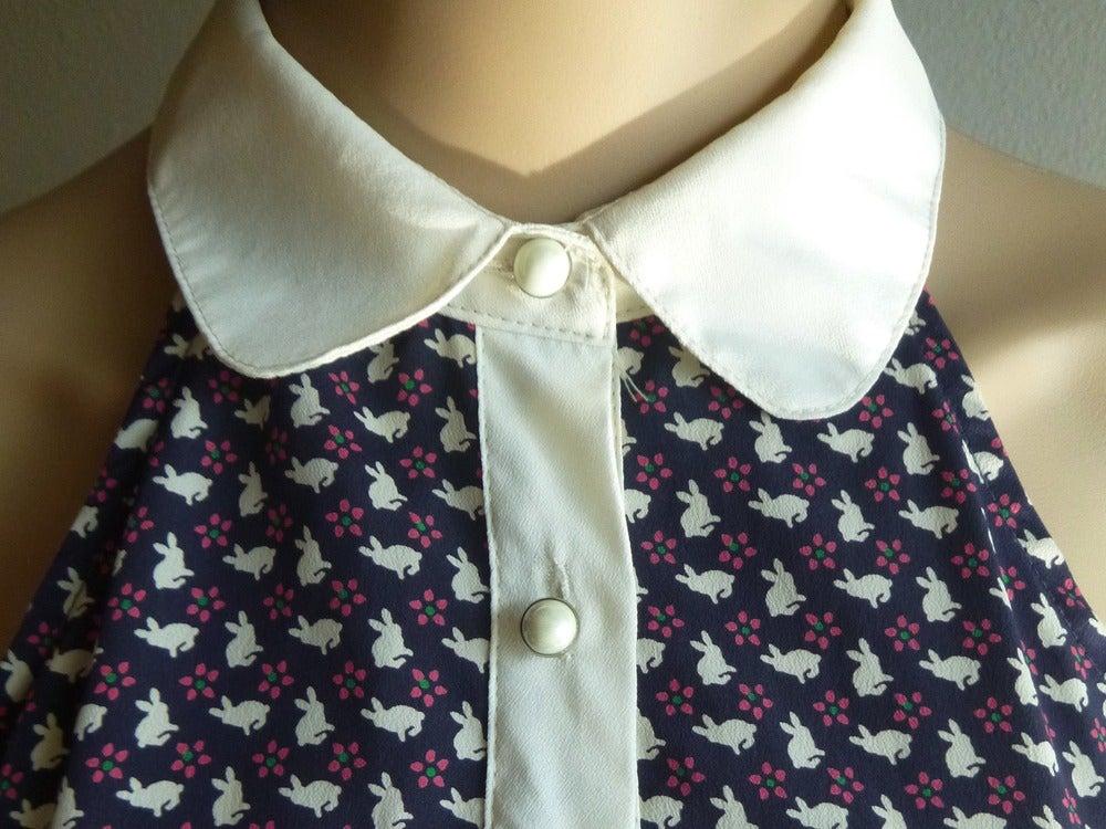 Image of Vintage Bunny Print Summer Dress S/M