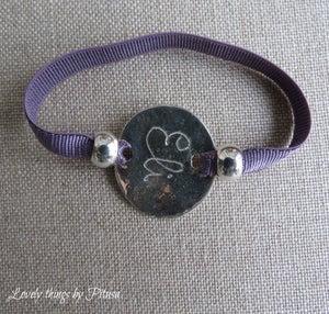 Image of Collar y pulsera de plata grabadas