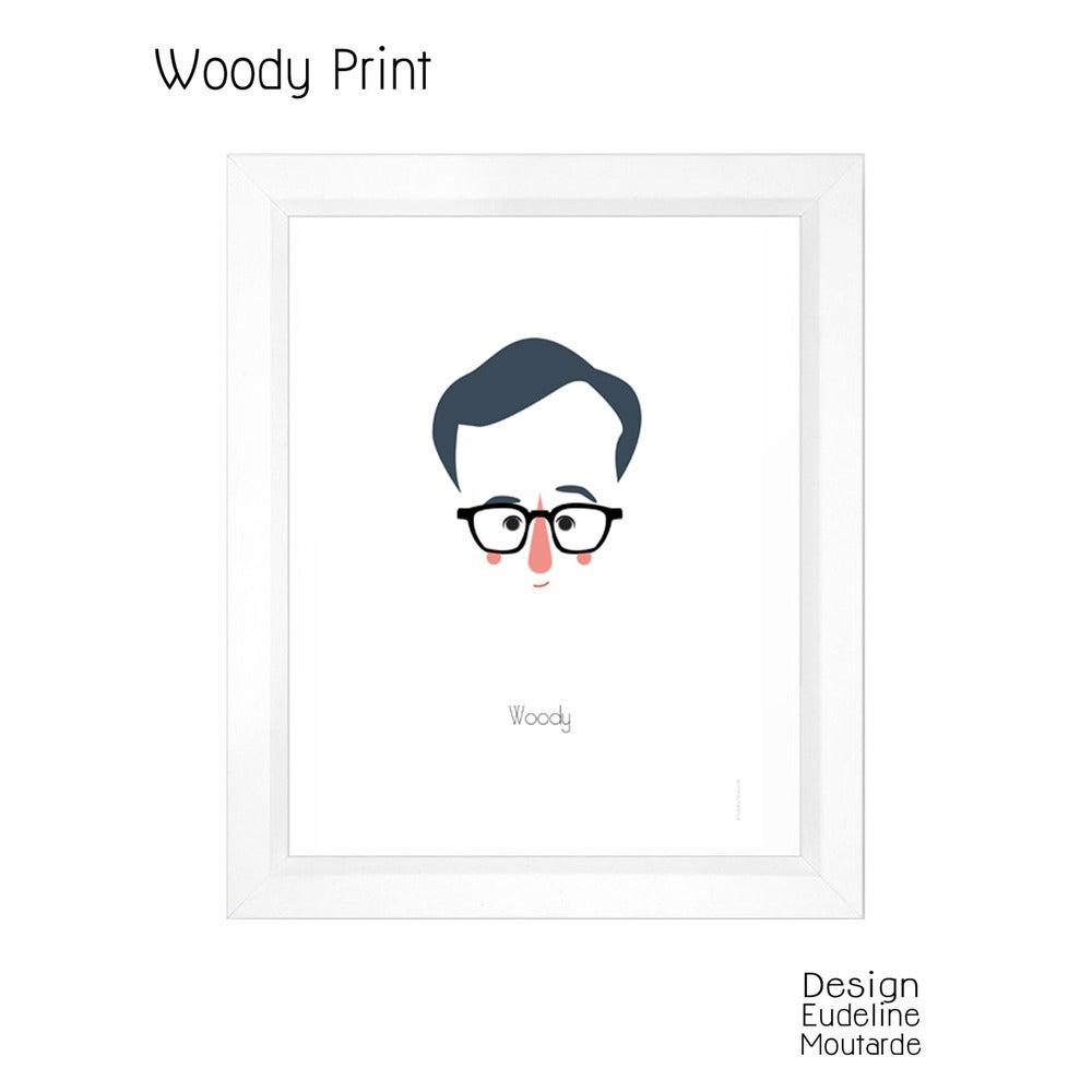 Image of Woody Allen Print, illustration ©Eudeline Moutarde
