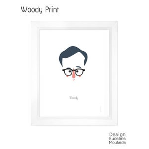 Image of Woody Allen Print, illustration ©Eudeline Moutarde
