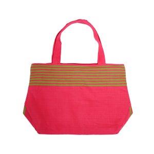 Image of Market Tassel Bag Pink/Lime