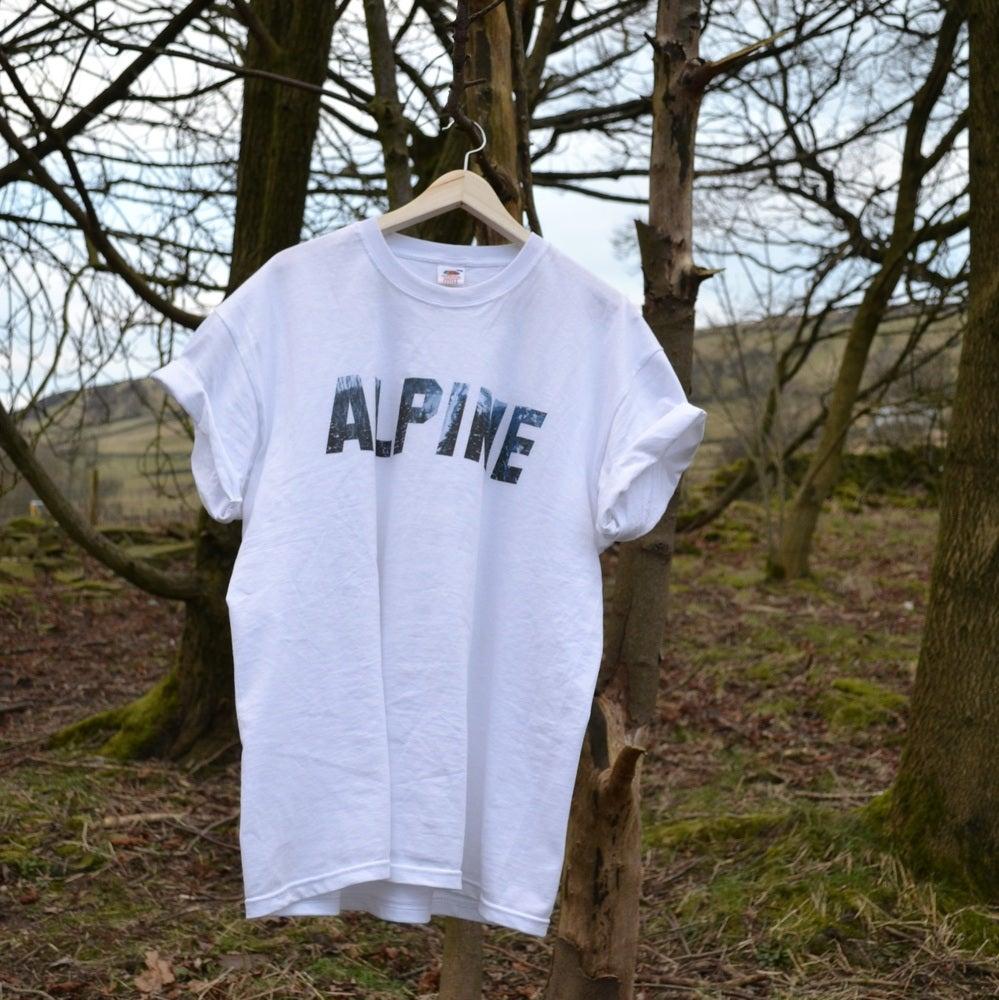 Image of ALPINE MOUNTAIN TSHIRT - WHITE