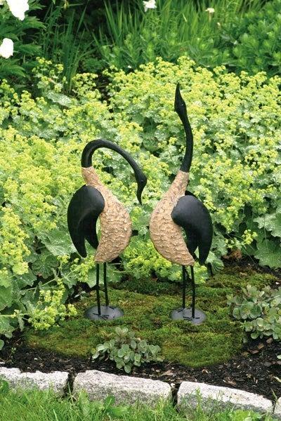 Image of Pair of Steel Geese