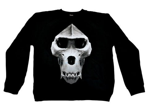 Image of 'Pyramid Skull' crewneck