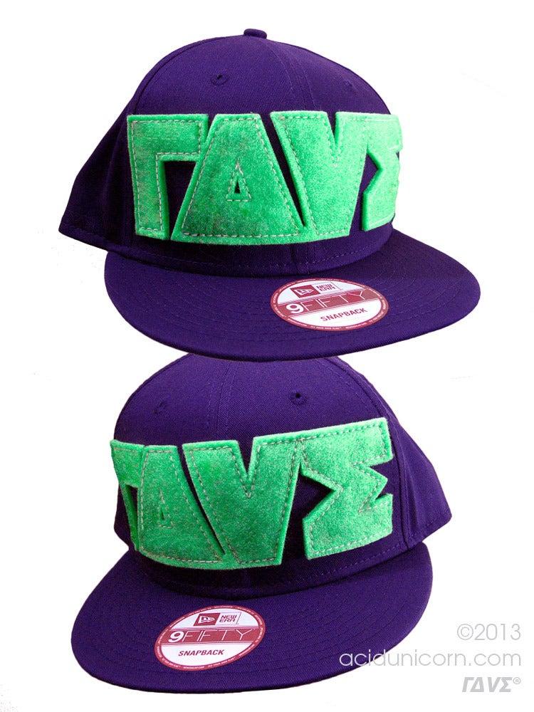 Image of ΓΔVΣ® Logo NewEra® Snapback <br>Purple+Neon Green