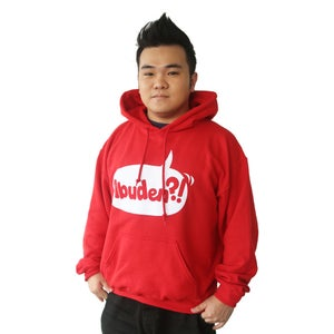 Image of ABUDEN?! Hoodie - UNISEX RED