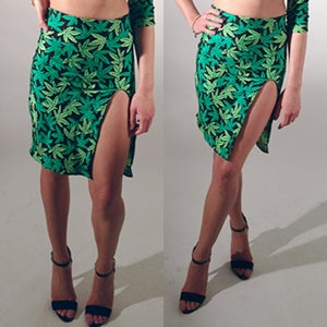 Image of BAD KUSH SPLIT SKIRT (ON SALE)