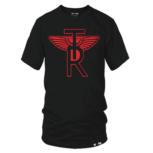 Image of CLASSIC TR Wings ON AWAY BLACK T-SHIRT
