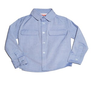Image of Blue Flap Pocket Shirt