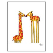 "Image of ""Eye to Eye"" Giraffes Print"