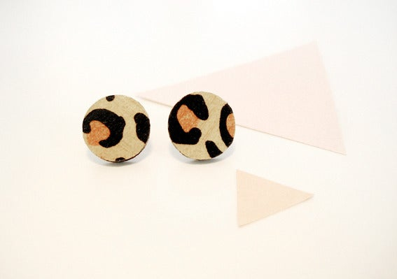 Image of Leopard spot stud earrings