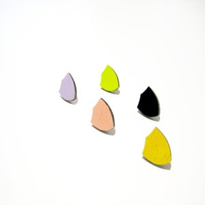 Image of Shield stud earring :: winter colours
