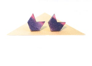 Image of Galaxy chevron studs