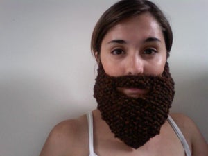 Image of Knitted Brown Beard