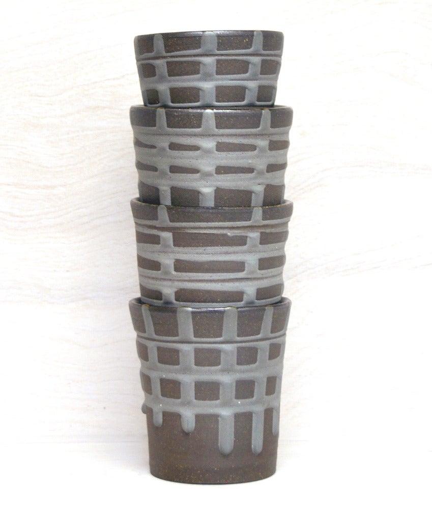 Image of banded tumblers medium