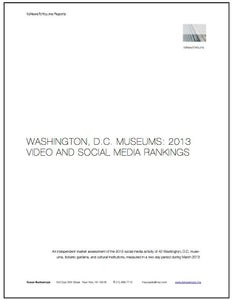 Image of Washington DC Museums: 2013 Video and Social Media Rankings