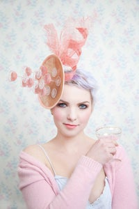 Image of Champagne Pyramid Fascinator -choose your own colour