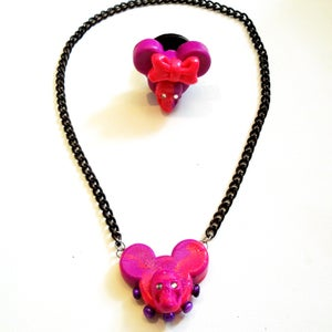"Image of Pink & Purple ""Mouse of Death"" Jewelry"