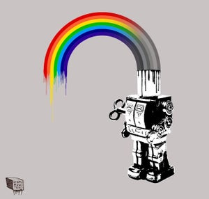 Image of Robot Rainbow - Framed Print