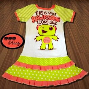 Image of **SOLD OUT** This is What Rawrsome Looks Like Dino double ruffle Dress - Size 9/10