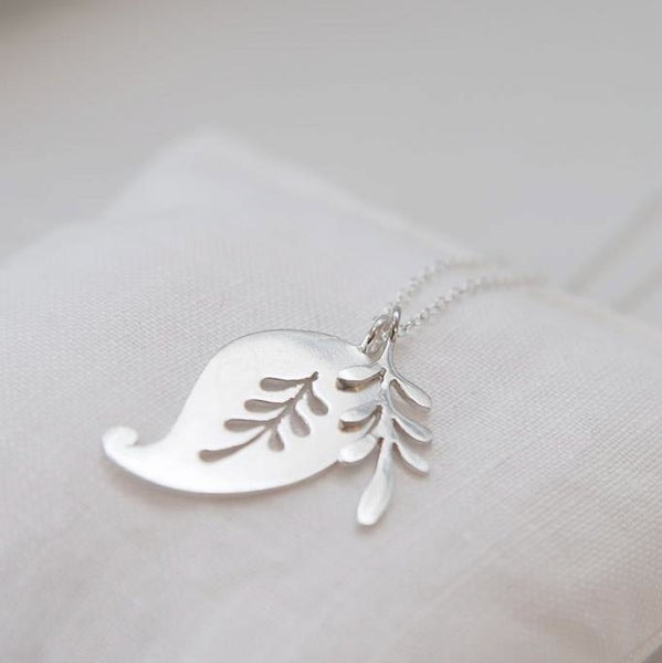 Image of paisley and leaf necklace