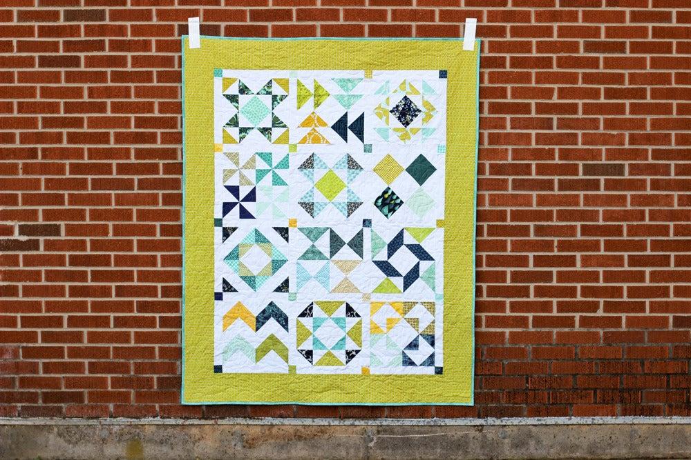 Image of Half-Square Triangle Sampler Quilt PAPER Pattern