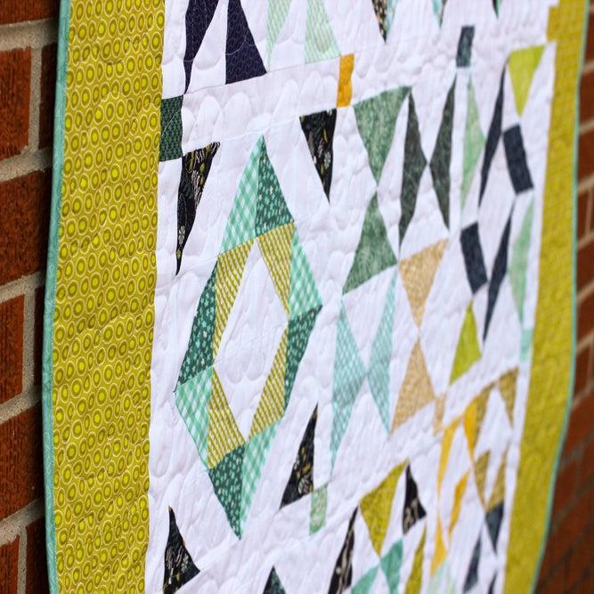 Half Square Triangle Sampler Quilt Paper Pattern Jeni