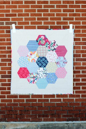 Image of Color Hex Quilt PAPER Pattern