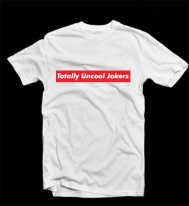 Image of Totally Uncool Jokers box logo(pre-order)