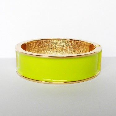 Image of Wide Enamel Bangle Tender Shoots