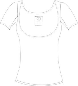 Image of Below the Bra White Regular Sleeve