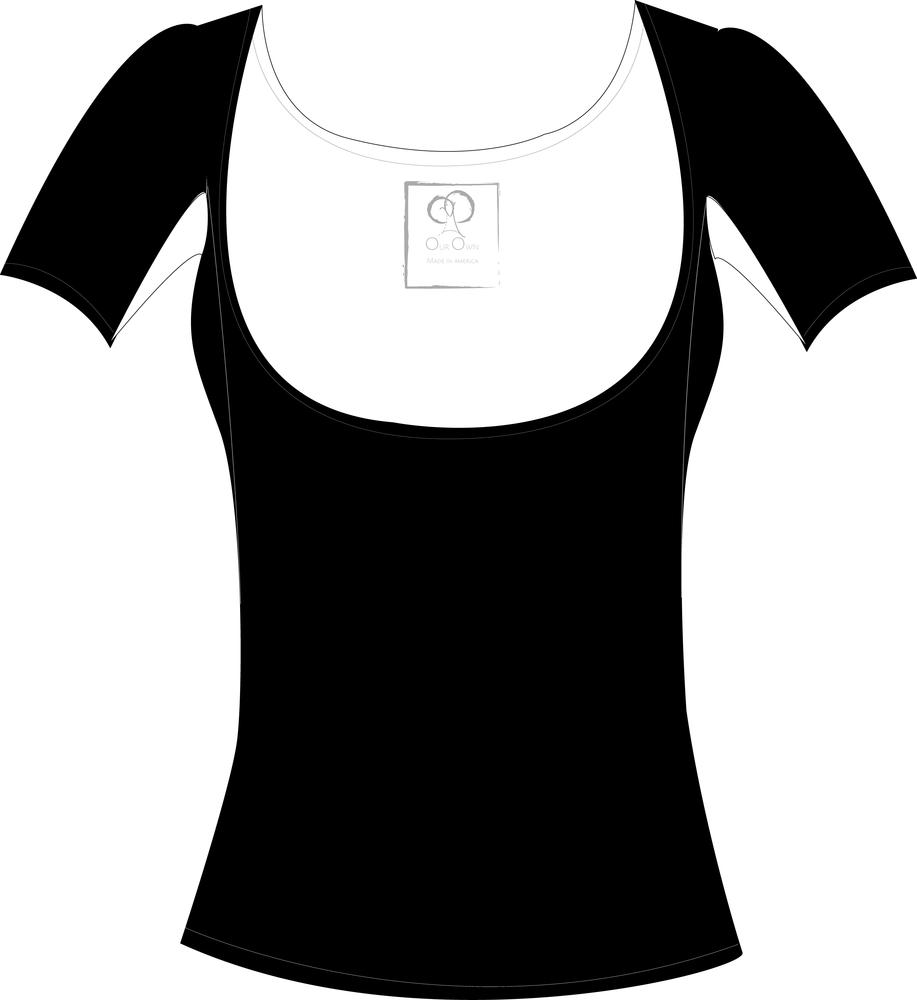 Image of Below the Bra Black Regular Sleeve
