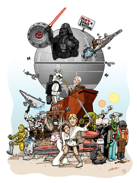 Image of Star Wars Spoof Poster